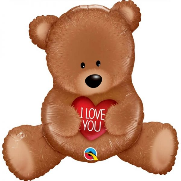 Globo Oso corazón, tamaño XL de 88 cm, I love You Teddy Bear -