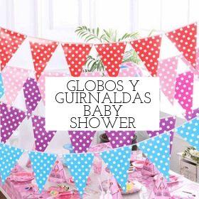 globos y guirnaldas baby shower