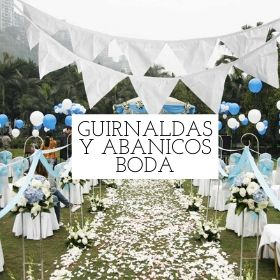 guirnaldas y abanicos boda