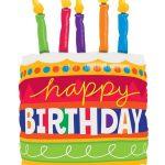 """Globo tarta de cumpleaños con velas de 35"""" -"""