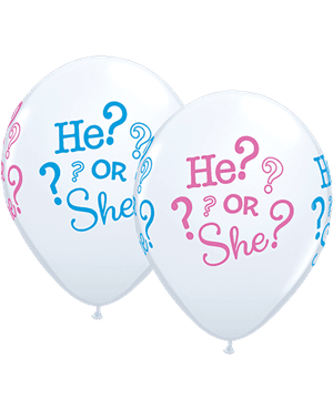 "Globos de latex He or She? de 11"" -"