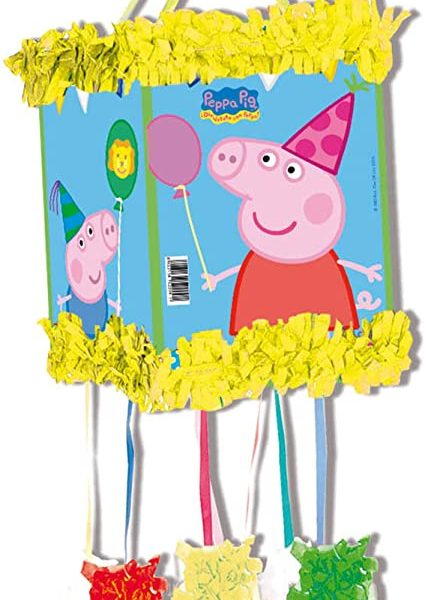 Piñata Pepa Pig de 28x33 - Fiesta superhéroes