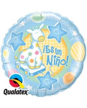 """Globo de foil """" Es un niño"""" de 9"""" -"""