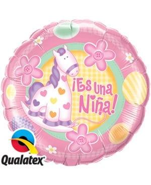 """Globo de foil """" Es una niña"""" de 9"""" - Baby shower niña"""
