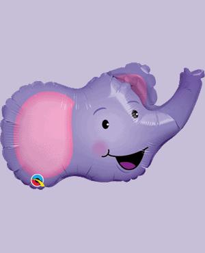 """Globo de foil Elefante de 14"""" - Fiesta animales jungla"""