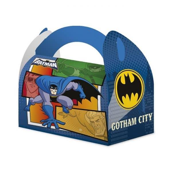 """Caja de cartón para chuches """"Badman"""" - Fiesta superhéroes"""