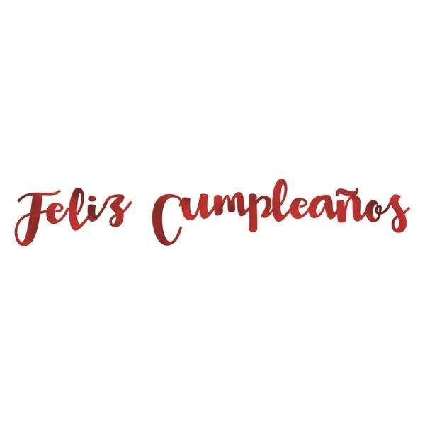 """Guirnalda letras """"Feliz Cumpleaños"""" burdeos - Artículos cumpleaños infantil"""