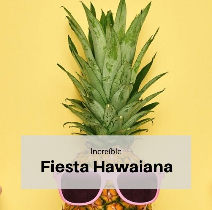 Decoración fiesta hawaiana