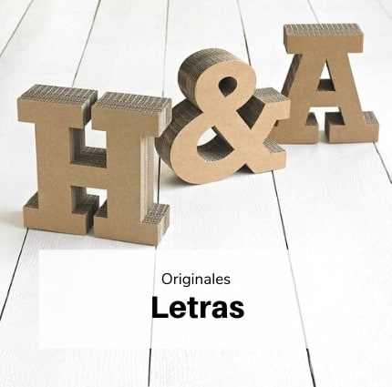 Decoración letras