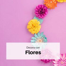 Flores de papel fiesta