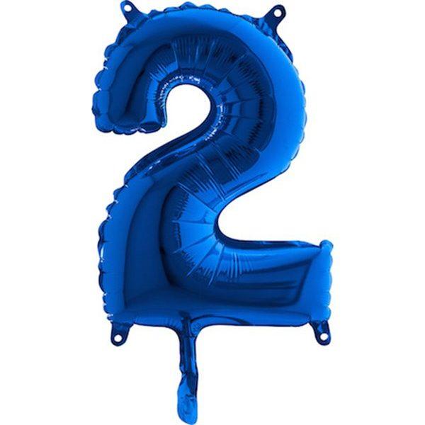 Globo nº 2 color azul turquesa de 80cm -