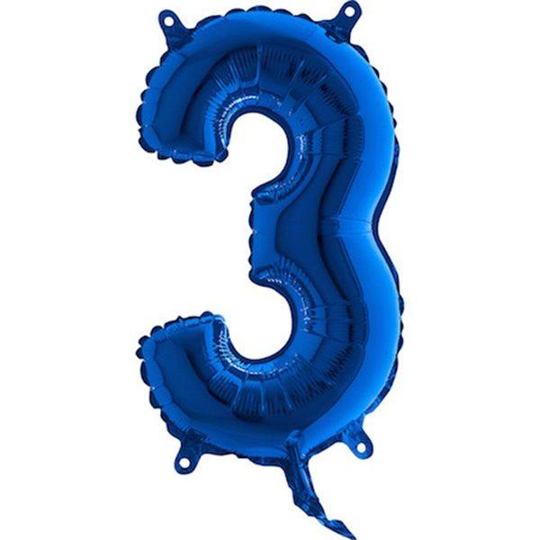 Globo nº 3 color azul turquesa de 80cm -