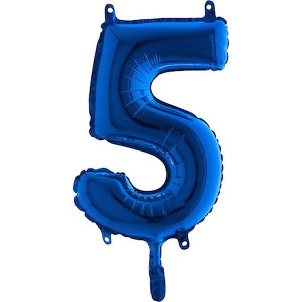 Globo nº 5 color azul turquesa de 80cm - 50 cumpleaños