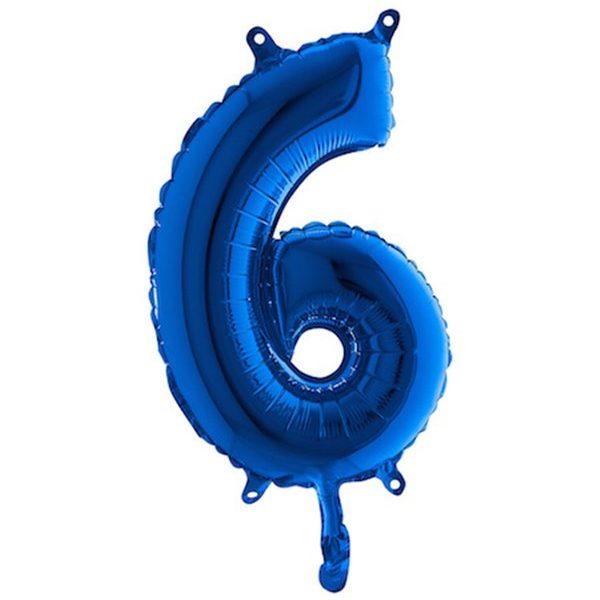 Globo nº 6 color azul turquesa de 80cm -