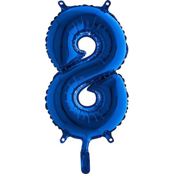Globo nº 8 color azul turquesa de 80cm - 18 cumpleaños