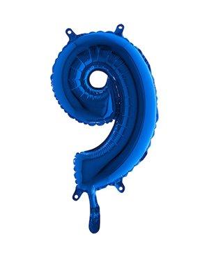 Globo nº 9 color azul turquesa de 80cm -