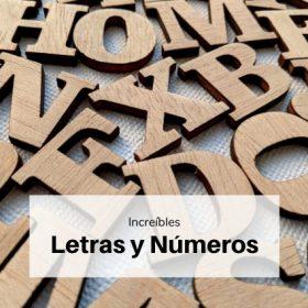 Letras y números decoración