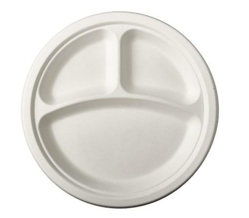 Platos Blancos para Candy Bars con 3 compartimentos Ø 23 cm -