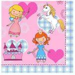 84710 servilletas-princesas-y unicornios 33×33-cm