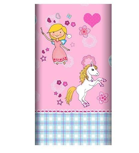 Mantel Fiesta Princesas de Papel Lacado de  120 x 180cm -
