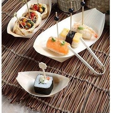 Boles Barca Madera Bambú 8,5 x 5,5 cm - Menaje Baby Shower