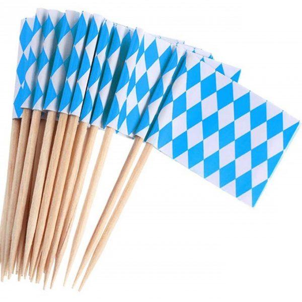 Palillos Decorativos Baviera Azul 8cm - Fiesta Oktoberfest