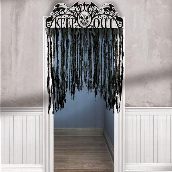 Decoración para puerta Keep Out Halloween - Escaparate Halloween