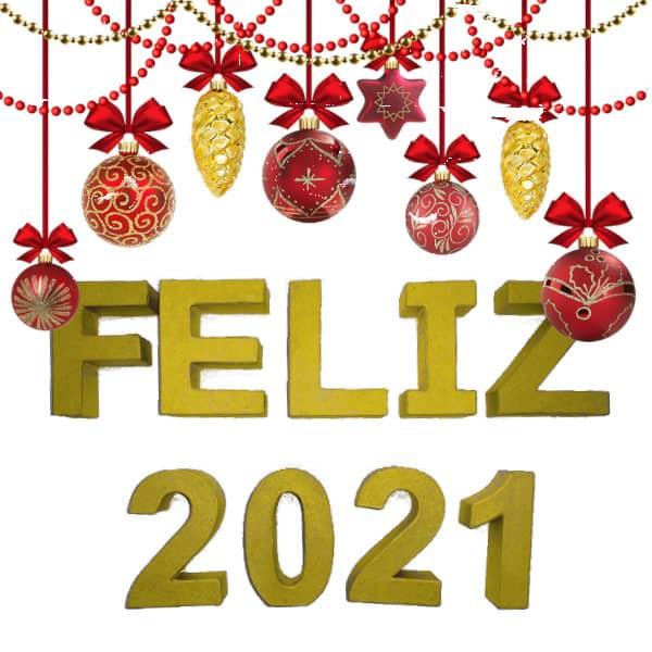 """Pack  letras de cartón """"Feliz 2021""""  de 10cm - Decoración Navidad"""