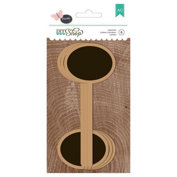 Señales de pizarra ovaladas con pincho DIY Shop -
