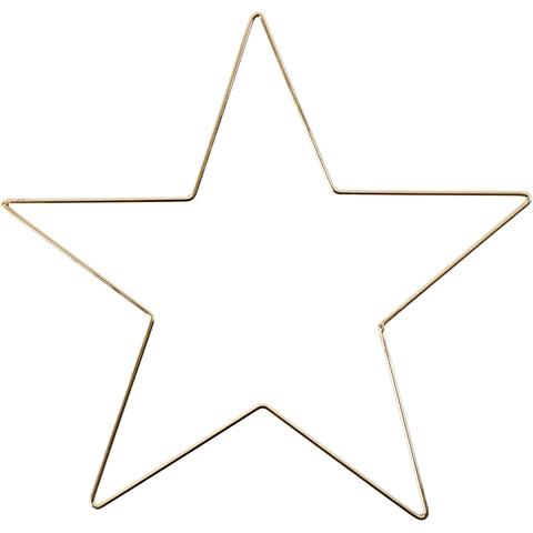 Adorno metálico con forma de Estrella de 30cm - Decoración Navidad