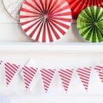 HYP405_guirnalda banderines rayas rojas y blancas