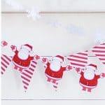 Guirnalda Navidad Santa Claus de 250cm -