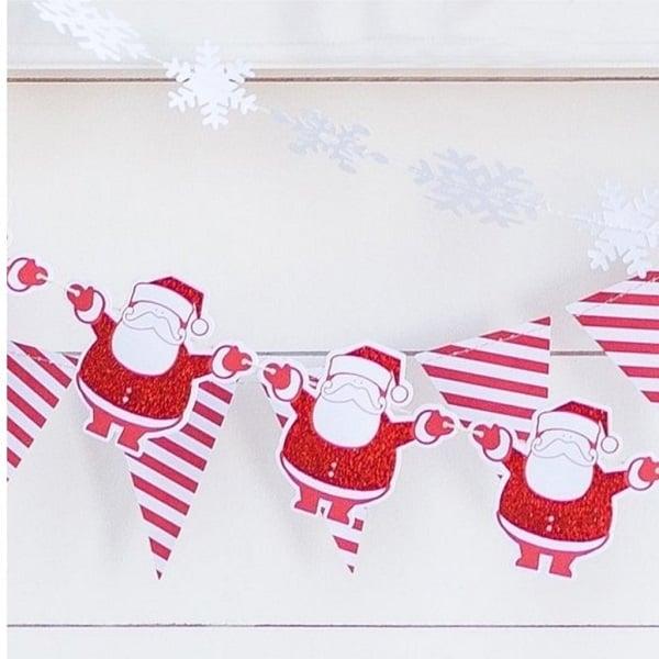 Guirnalda Navidad Santa Claus de 250cm - Decoración Navidad