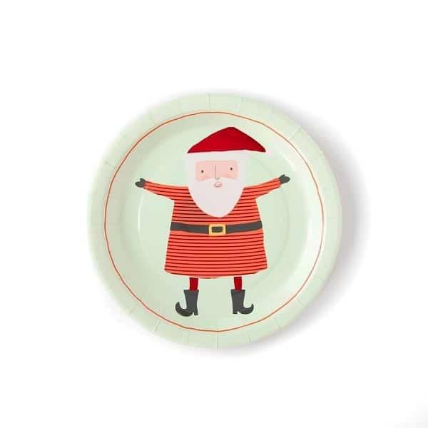 Platos de papel cuadrados Papa Noel de 23cm - PLATOS