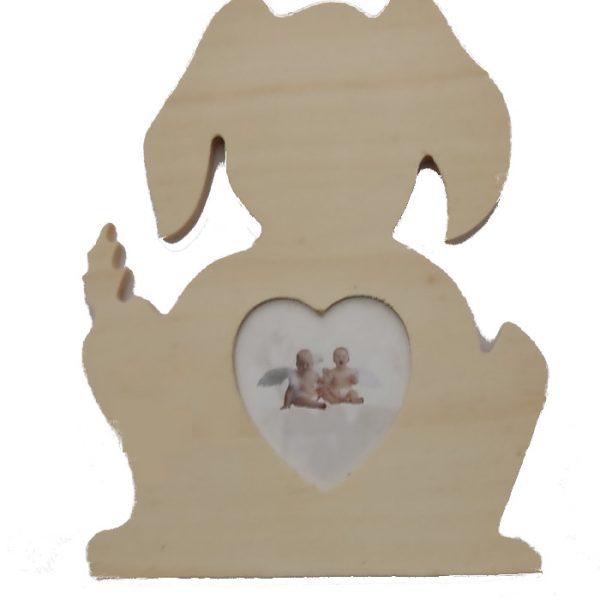 "Portarretrato ""Conejito"" de madera de 18cm -"