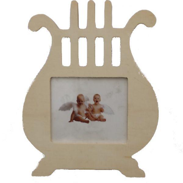 """Portarretrato """"Arpa"""" de madera de 16cm -"""