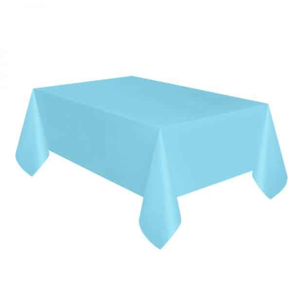 Mantel Azul Claro en papel plastificado de 1,4x2,8m -