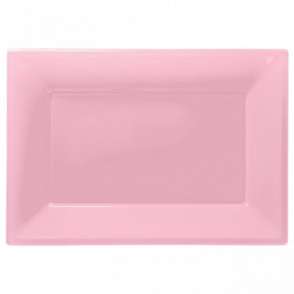 Fuente Rosa de plástico rectangular 23cm x 32cm - Fiesta princesas
