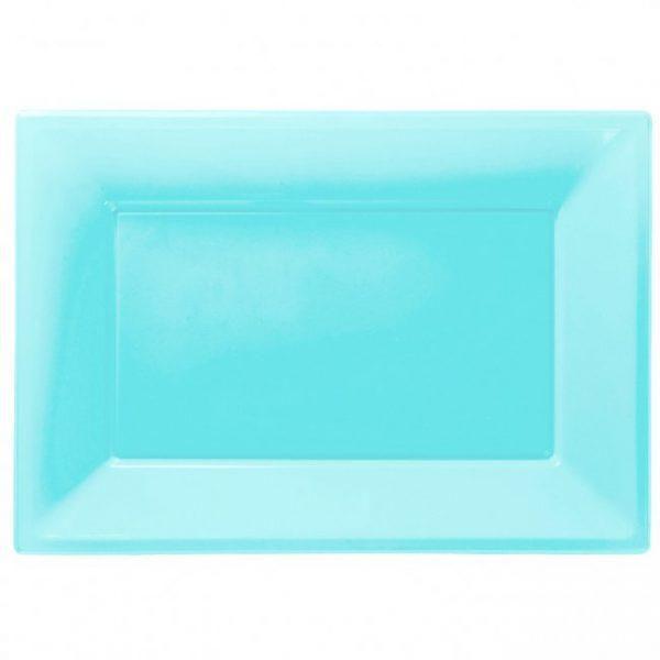 Fuente Azul de plástico rectangular 23cm x 32cm -