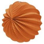 Farol esférico de papel color Naranja de 22cm -