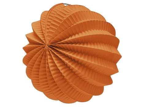Farol esférico de papel color Naranja de 22cm - Fiesta Saint Patrick