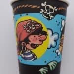 Vasos de cartón Piratas Infantil (8 vasos) -