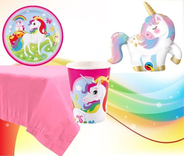 Set de menaje Unicornio rosa (16 servicios) -