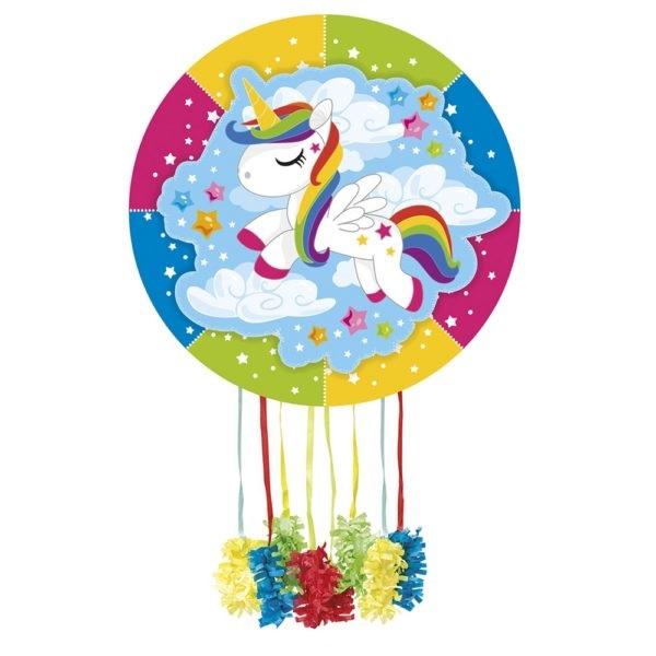 Piñata de cartón Unicornio rosa -